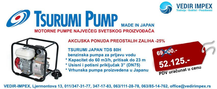 Motorna pumpa za vodu akcija
